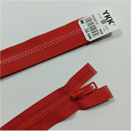YKK Kunststoff Jacken Reißverschluss, teilbar, 1 Stück, ab Länge 60 cm, rot 519