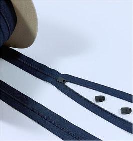 YKK Reißverschluss für Bettdecke, Bettwäsche Schieber, 135cm, 150cm, 200cm, 220cm, marine