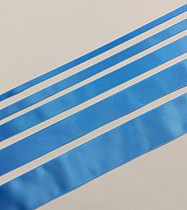 Satinband Luxe, 100% Polyester, mehrere Breiten, türkis-blau 235, 1 Meter