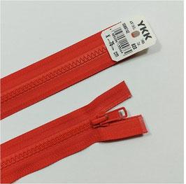 YKK Kunststoff Jacken Reißverschluss, teilbar, 1 Stück, ab Länge 40 cm, tomatenrot 820