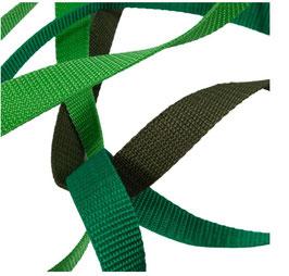 Gurtbänder, starker Zug, 20 mm, grüne Töne, 2 Meter