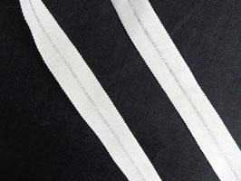 Falz-Ripsband, natur weiß