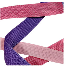 Hochwertiges Gurtband, starker Zug, rosa-lila Töne, 30 mm, 1 Meter