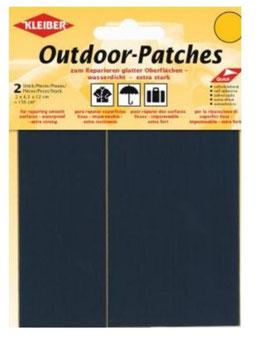 Outdoor Patches, selbstklebend, für Schnellreparatur, Farbe marine