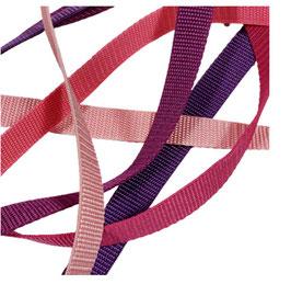 Gurtbänder, starker Zug, 20 mm, lila-pink-rosa Farben, 2 Meter