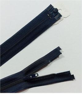 YKK Kunststoff Reißverschluss, fein, teilbar, 1 Stück, Länge 55 cm, marine 058