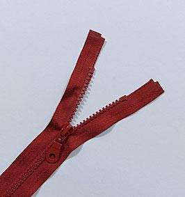 Kunststoff Reißverschluss, teilbar, 1 Stück, ab 40 cm, bordorot