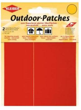 Outdoor Patches, selbstklebend, für Schnellreparatur, Farbe rot