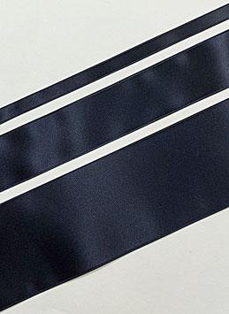 Satinband Luxe, 100% Polyester, mehrere Breiten, marine dunkel 21, 1 Meter