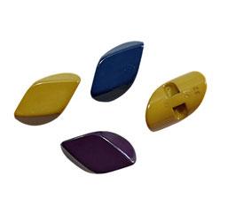 2 Stück, Knebelknopf - Olive, Kunststoff, mehrere Farben, 35 x 20 mm
