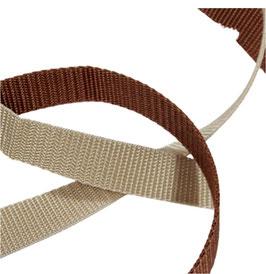 Gurtbänder, starker Zug, 20 mm, braun, beige, 2 Meter