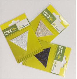 Dreieck Sticker zum Aufbügeln, bestickt, Sport, mehrere Farben, Größe 55 x 55 mm, 1 Stück