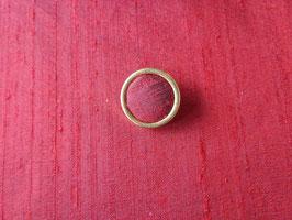 Stoffknopf, gold, 16 mm