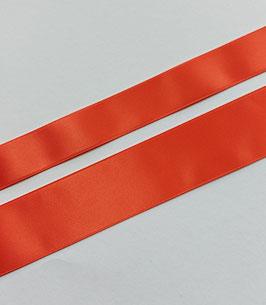 Satinband Luxe, 100% Polyester, mehrere Breiten, korallenrot 79, 1 Meter
