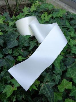 Satinband Luxe, 100% Polyester, mehrere Breiten, weiß 401, 1 Meter