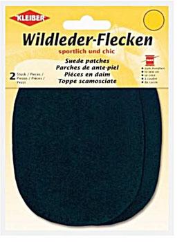 Wildleder-Ellenbogen Patches, 2-er Set, dunkelblau