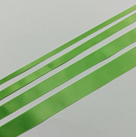 Satinband Luxe, 100% Polyester, mehrere Breiten, hellgrün 813, 1 Meter
