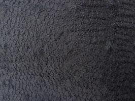 Seidenorganza, schwarz, dicht bestickt