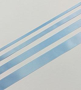 Satinband Luxe, 100% Polyester, mehrere Breiten, babyblau 37, 1 Meter