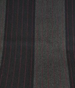 Reduziert, Designer Wollstoff, Streifen in pink, 30 cm