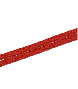 Hochwertiges weiches Knopfloch Gummiband, rot, rosa-pink, 20 mm, 1 Meter