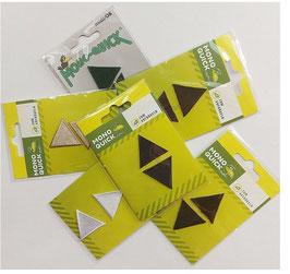 Sparpack, Dreieck Patches zum Aufbügeln, 2-er Set, mehrere Farben, 35 x 35 mm