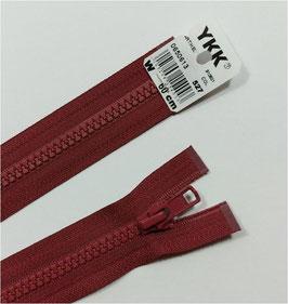 YKK Kunststoff Reißverschluss, teilbar, 1 Stück, ab Länge 55 cm, bordorot 527