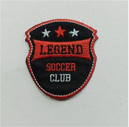 Auffällige schwarz-rote Designer Wappen Sticker, 6,5 cm, 1 Stück
