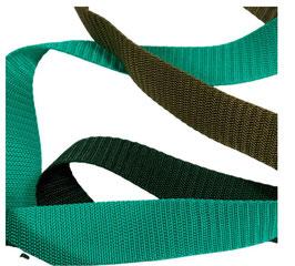 Hochwertiges Gurtband, starker Zug, grüne Töne, 30 mm, 1 Meter