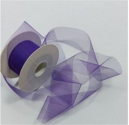 Tüllband Streifen, soft, 50 mm, Farbe lila, 5 Meter