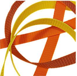 Gurtbänder, starker Zug, 20 mm, rost-orange Töne, 2 Meter