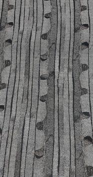 Reduziert, Fantasie Batikstreifen in anthrazit, 50 cm