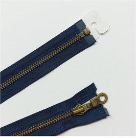 Metall Jacken Reißverschluss, teilbar, Restposten, 55 cm, marine 058