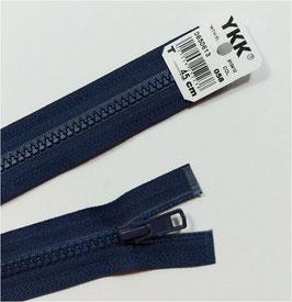 YKK Kunststoff Reißverschluss, teilbar, 1 Stück, ab Länge 40 cm, marine 058