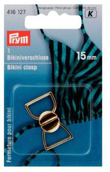Bikiniverschluss, PRYM 416127, 15 mm, Farbe gold