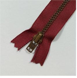YKK Jeans-Metallreißverschluss, verschiedene Länge, Farbe bordorot Nr.527, 1 Stück