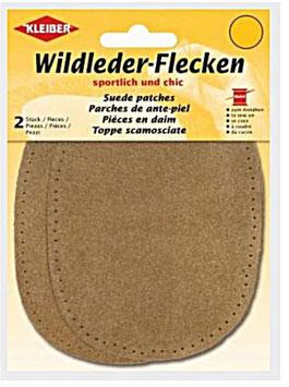 Wildleder-Ellenbogen Patches, 2-er Set, cognak