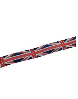 Reststück 1,70 Meter, Ripsband, Motiv englische Flagge, 15 mm