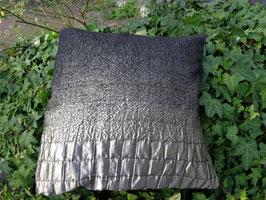 Kissenhülle in schwarz-grau-silber, Clogue, Gr.50 x 50 cm