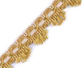 Polsterborte aus Italien für das klassische Handwerk, gold-beige, 22 mm, 1 Meter