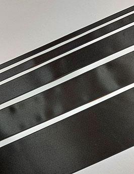 Satinband Luxe, 100% Polyester, mehrere Breiten, schwarz 725, 1 Meter