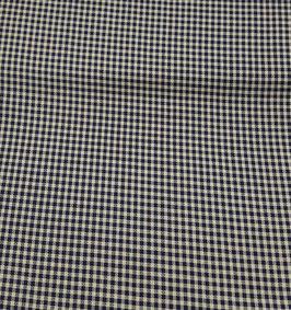 Reduziert, Seidenmischung Stoff, Pepita Muster, marine-camel, 50 cm