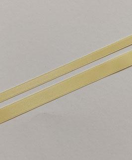 Satinband Luxe, 100% Polyester, mehrere Breiten, vanille 07, 1 Meter