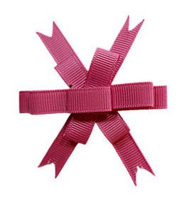 Brosche, mehrfache Schleife aus Ripsband, altrosa-pink, Accessoires für Hut und Kleid, 1 Stück