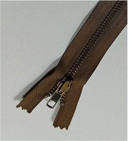 YKK Jeans-Metallreißverschluss, verschiedene Länge, Farbe braun Nr. 570, 1 Stück