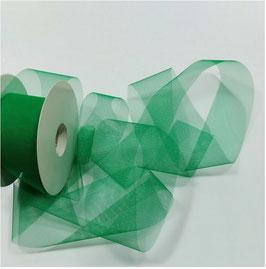 Tüllband Streifen, soft, 50 mm, Farbe grün, 5 Meter