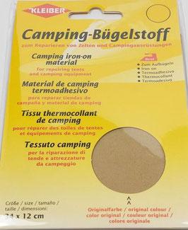 Camping- Bügelstoff aus Original-Zeltstoff, 34 x 12 cm, Farbe sand hell