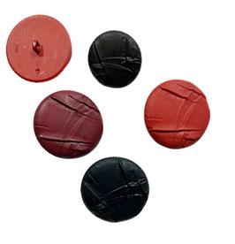 1 Stück, Ösenknopf, Designerknopf, rund, Lederoptik, mehrere Farben, matt, 40 mm
