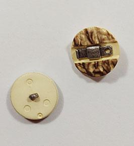 2 Stück, Landhaus Knopf, Herrenknopf, 30 mm, Horn