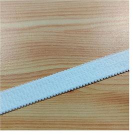 BH-Trägerband, mit Muster, weiche Unterseite, weiß, 20 mm, mit Muster, 1 Meter